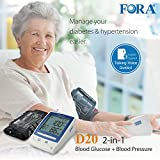 FORA D20 2-in-1 Blood Glucose & Blood Pressure Monitor (Arm/Talking)