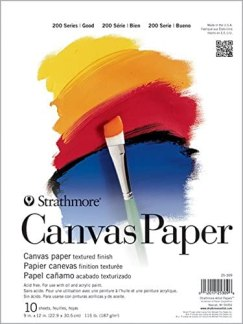 Strathmore (25-309 200 Series Canvas Paper Pad