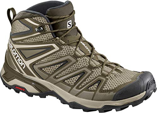 Salomon Men's X Ultra Mid 3 Aero Hiking Shoes, Khaki, 12.5 M