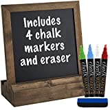 Vintage Rustic Wood Tabletop Chalkboard: Includes 4 Liquid Chalk Markers/Wedding Table Sign/Kitchen Counter Top Memo Board/Size: 10' x 10' /