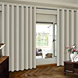 Extra Wide Patio Door Curtains Thermal Insulated Blackout Patio Curtains, Sliding Door Insulated Drape, Soundproof Room Divider Curtains - Grommet Top - Ivory - 100' W x 84' L - (1 Panel)