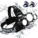 DanForce Headlamp, Ultra Bright Rechargeable LED Headlamp,CREE 1080 Lumens,Zoomable Head Lamp Flashlight. Headlight USB Rechargeable, IPX45 HeadLamps for Camping, Outdoors, Adults,Red Light Include.