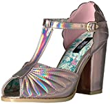 Iron Fist Women's Mother of Pearl Heel Dress Sandal, Pink, 7 M US