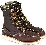 Thorogood 804-3800 Men's 8' Moc Toe, MAXwear Wedge Waterproof Safety Toe, Briar Pitstop - 9 D US
