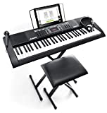 Alesis Melody 61 MKII | 61-Key Portable Keyboard with Built-In Speakers, Headphones, Microphone, Piano Stand, Music Rest and Stool.