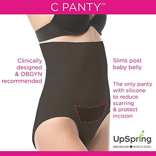 UpSpring Child C-Panty Excessive Waist C-Part Help, Restoration & Slimming Panty with C-Part Scar Therapeutic – L/XL Black deal 50% off 51xwlDN37pL