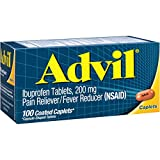 Advil Temporary Pain Reliever/Fever Reducer Coated Caplet 200mg...