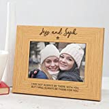 Personalized Best Friend Photo Frame/Best Friend Gifts for Girls Women/BFF wooden engraved picture frame - 6x4 7x5 8x6 available