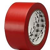 3M General Purpose Vinyl Tape 764 Red, 2 in x 36 yd 5.0 mil (Pack of 1)