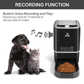Automatic-Pet-Feeder-Auto-Cat-Dog-Timed-Programmable-Food-Dispenser-Feeder-for-Medium-Small-Pet-Puppy-Kitten-Portion-Control-Up-to-4-MealsDayVoice-RecordingBattery-and-Plug-in-Power-65LBlack