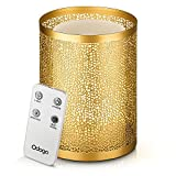 Odoga Aromatherapy Essential Oil Diffuser, 100 ml Ultrasonic Whisper Quiet Cool Mist Humidifier with Warm White Color Candle Light Effect, Remote Control & Low Water Auto Shut-Off