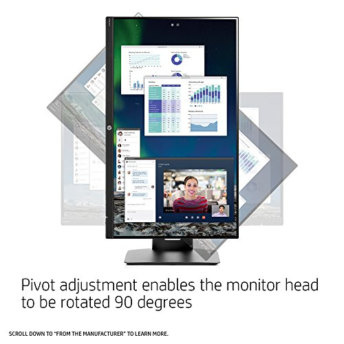 HP 23.8-inch FHD IPS Monitor with Tilt/Height Adjustment and Built-in