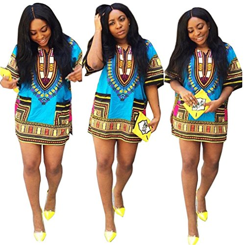 eda687a28fc Creazy Women Traditional African Print Dashiki Bodycon Sexy Short ...