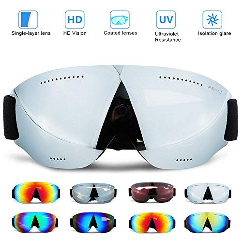 Volwco Uv Snowboarding Goggles Ski Goggles for Women Men
