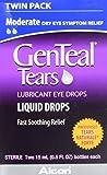 GenTeal Tears Lubricant Eye Drops, Moderate Liquid Drops, Twin Pack, 15-mL Each