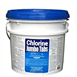 Puri Tech 25 lb Bucket 3' Chlorine Tablets Tabs Swimming Pool Sanitizer 99% Tri-Chlor Individually Wrapped for Easy Use