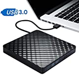 External CD Drive, USB 3.0 Slim External CD DVD ROM Drive Writer Reader Burner, DORISO 100% New Core High Speed Data Transfer External DVD Drive for Laptop Mac PC MacOSX Notebook Vista Windows7/8/10
