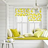 "KARUILU home Quick Fix Washable Roman Window Shades Flat Fold, Custom Any Width from 14"" to 70"", Kitchen Fruits (30W x 63H, Lemon)"