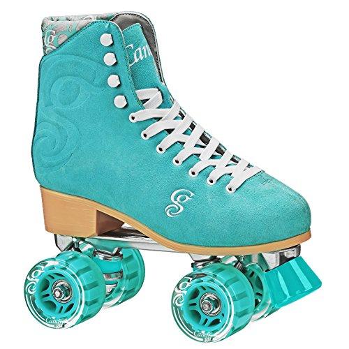 Roller Derby Candi Girl U774 Carlin Quad Artistic Roller Skates Seafoam Ladies sz 8