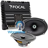 pkg FOCAL 690CA1 SG 6X9' 2-WAY COAXIAL SPEAKERS + SOLID-2 2-CHANNEL AMPLIFIER
