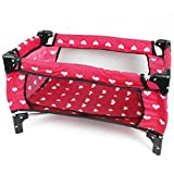 Doll Fold n' Store Pack N' Play - Doll Play Yard with Cute Hearts Design
