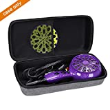Aproca Hard Carry Travel Case for Bed Head Curls in Check 1875 Watt Diffuser Hair Dryer