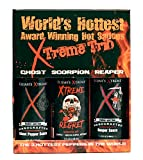 Worlds Hottest Award Winning Hot Sauces Xtreme Trio Includes Ghost Pepper, Scorpion and Reaper Sauces (3 5-oz Bottles)