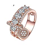 Engagement Ring Women Jewelry Rose Gold Xmas Party Wedding Rings Friendship Jewellery Gifts Roes 9