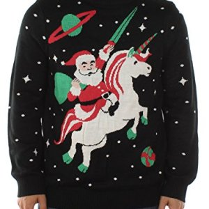 Men's Santa Unicorn Christmas Sweater – Ugly Christmas Sweater for Men