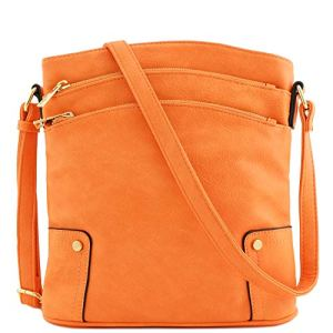 Triple Zip Pocket Large Crossbody Bag 8 Fashion Online Shop Gifts for her Gifts for him womens full figure