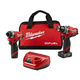 Milwaukee Electric Tools 2598-22 M12 Fuel 2 Pc Kit- 1/2' Hammer Drill & 1/4' Impact