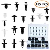 Car Retainer Clips Auto Push Pin Rivet Clips Trim Panel Body Plastic Fastener Clips Kit 425 PCS With Fastener Remover 19 Most Popular Sizes For GM Ford Toyota Honda Chrysler With Plastic Case