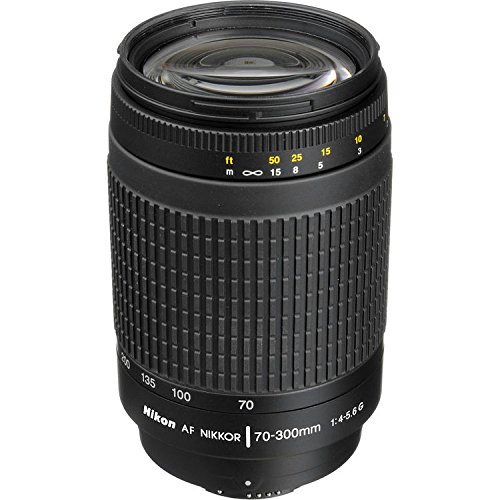 Nikon 70-300 mm f/4-5.6G Zoom Lens with Auto Focus for Nikon DSLR Cameras (Certified Refurbished)