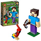 LEGO Minecraft Steve BigFig with Parrot 21148 Building Kit (159 Pieces)