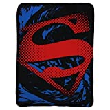 The Northwest Company Superman Super Rip Shield Character Fleece Blanket, 45 x 60-inches