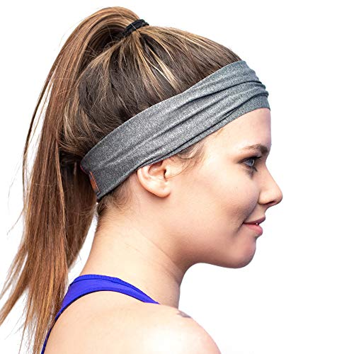 Lightweight Moisture Wicking Sports Headband - Designed for Women Borrowed by Men