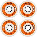 Labeda Gripper Inline Hockey Wheels (White/Black-Soft, 68mm)