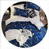 Secret-shop Bedding Set Childish Elephant Bear Eyelash Print King Queen Size Linens Duvet Cover Pillowcases Brief Bed Covers,TKMY,AU Double 180x210cm
