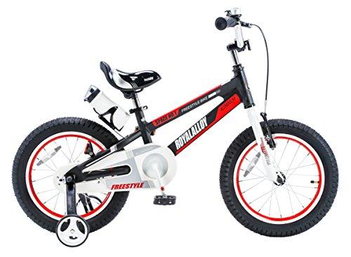 Royalbaby Space No. 1 Aluminum Kid's Bike, 18 inch Wheels, Black