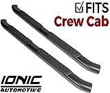Ionic 5' Railway Black Running Boards (fits) 2015-2018 Dodge Ram 1500 Crew Cab 4287B82081
