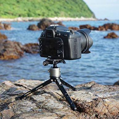 SIOTI-Ball-Head-Camera-Mount-Ball-Head-Tripod-Mount-Camera-Tripod-Mount-for-DSLR-Camera-Mirrorless-Camera-Camcorder-Telescope-Action-Camera-Slider-Tripod-28mm-Ball-Head