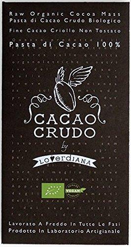 Tavoletta di Cioccolato Crudo Fondente al 100% Bio Raw Organic