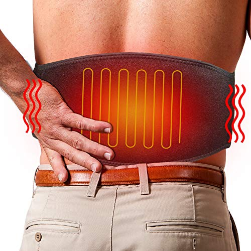 ARRIS Lower Back Heating Pad/Heating Waist Belt Wrap w/7.4V Rechargeable Battery Far Infrared Heat Therapy, Pain Relief for Back Waist Abdominal Stomach Lumbar Thigh Muscle Strain, for Men Women