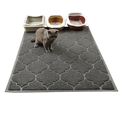 Cat Litter Mat, XL Super Size, Phthalate Free, Easy to Clean,...