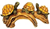 Moonrays 91515 Solar-Powered Outdoor LED Light Garden Décor, Beautifully Painted Polyresin Turtles on a Log, 3 Amber LEDs And 1 AA NiCd Rechargeable Battery (Included) 11.02W x 5.51H inches