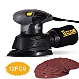 Mouse Detail Sander, TECCPO 14,000 OPM Mouse Detail Sander with Recyclable Dust Bag for Tight Corner and Small Hard-to-reach Areas Sanding, Ideal for DIY, Home Decoration -TAMS22P