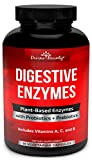 Digestive Enzymes with Probiotics & Prebiotics - Digestive Enzyme Supplements w Lipase, Amylase, Bromelain for Digestion, Bloating, Gas, and IBS for Men and Women - 90 Vegetarian Capsules