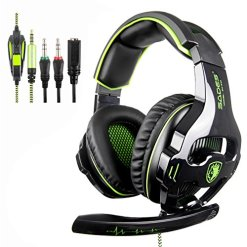 51ydIrWageL - [Newly Updated Version] SADES 810S Stereo Gaming Headset headphones with Volume-Control Mic for New Xbox One, PS4, PS4 PRO, PC, Laptop, Mac, Phone -Green