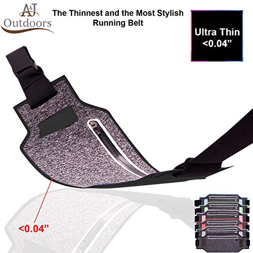 Ultra-Thin Water Resistant Running Belt / Fannie Pack for Women and Men,...