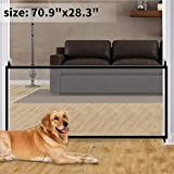Magic Gate,Portable Folding Pet Gate Mesh Magic Gate for Dogs,Baby Safety Fence,mesh gate Isolated Gauze Indoor and Outdoor Safety Gate Install Anywhere(70.9'x28.3')